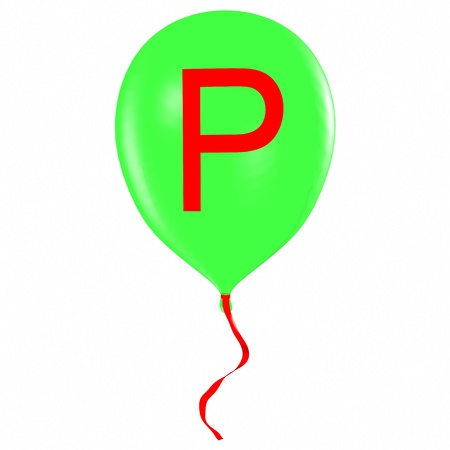 Letter P on balloon Stock Photo - 19560085