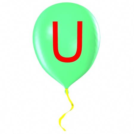 Letter U on balloon photo