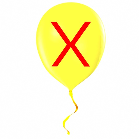 Letter X on balloon Stock Photo