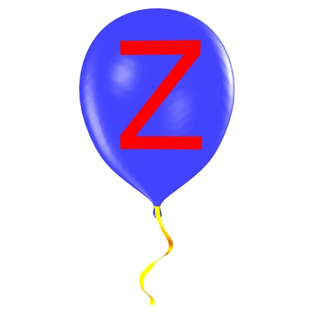 Letter Z on balloon Stock Photo