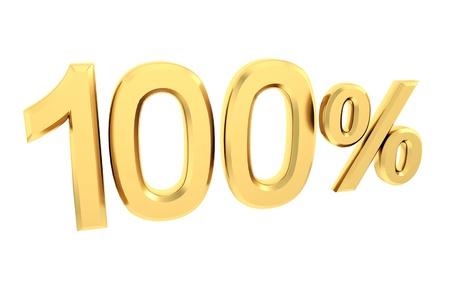 Gold 100 por cento isolado no branco