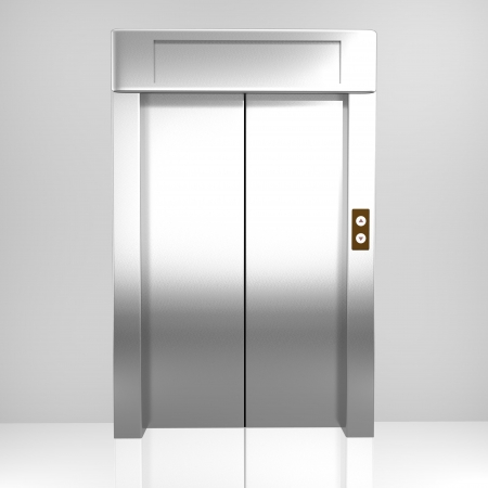 Rendered elevator Stock Photo