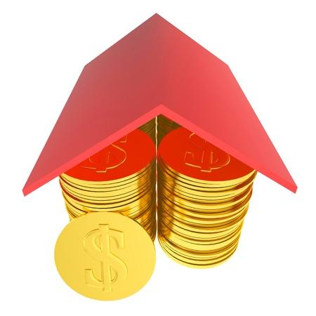 Ricos casa 3d Banco de Imagens