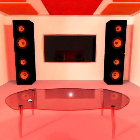 Manh� interior home 3d rendeu