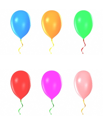 motley: Multicolored balloons isolated on white