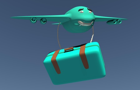 3d mode: Airplane funny isolated