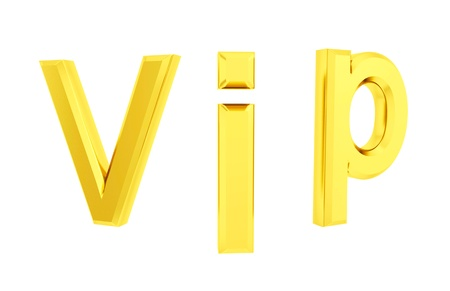 Vip 3d isolated Stock Photo - 20681706
