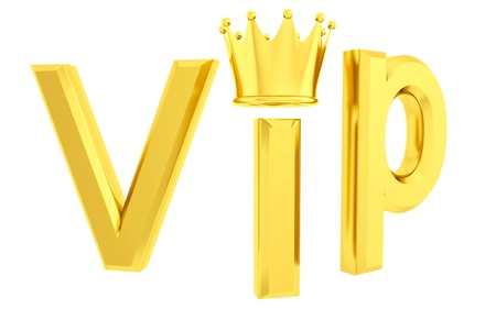 Vip 3d isolated photo