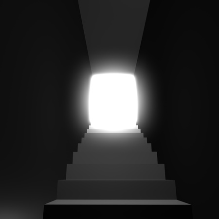 Light in the end of tunnel rendered