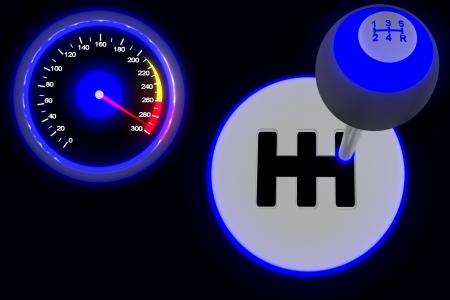 Conceito velocidade ULTRA no escuro Banco de Imagens