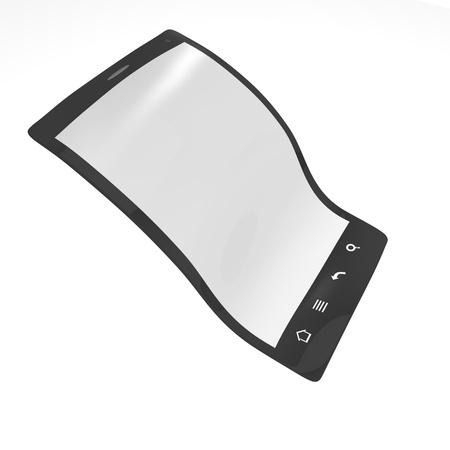 Flexible display 3d Stock Photo