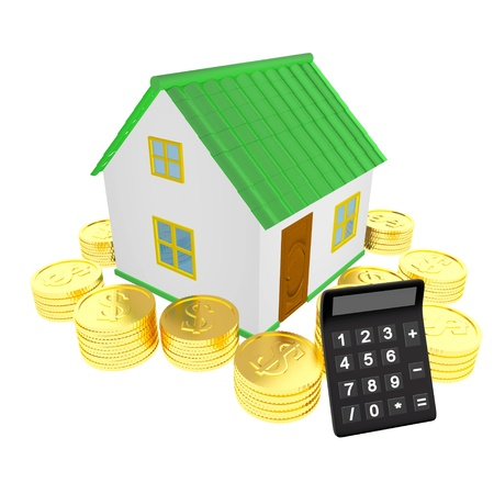 House money & calculator photo