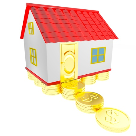 dollhouse: Concept wealth house 3d isolated