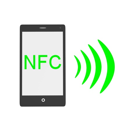 nfc: NFC smartphone technology Stock Photo