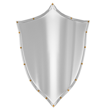 3d shield isolated Stock Photo