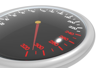Speedometer isolated on white photo