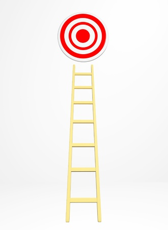 Concept target isolated on white Stock Photo