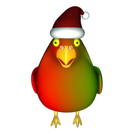 Funny christmas parrot