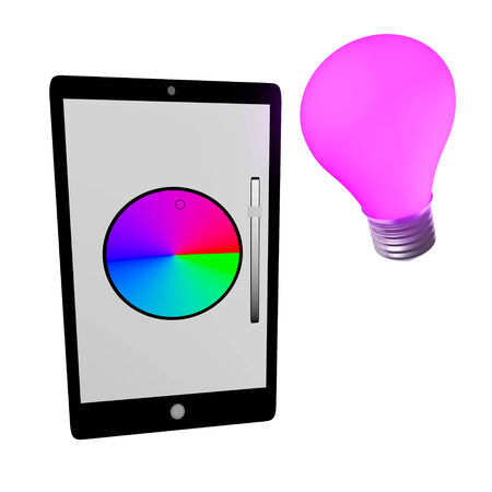 the lumen: Smart bulb Stock Photo