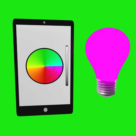 Smart bulb Stock Photo