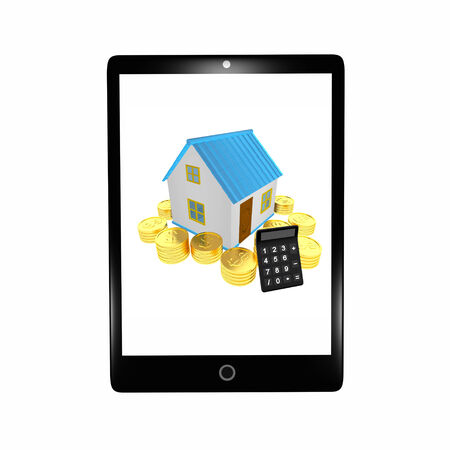 Isolated black pc tablet Banco de Imagens