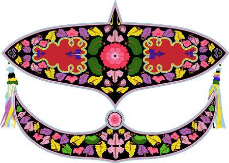 Wau oder Kite in Malay ist ein einzigartig gestalteter malaysischer Drachen, der traditionell von Männern im malaysischen Bundesstaat Kelantan geflogen wird. Es ist eines der Nationalsymbole Malaysias. Vektorgrafik