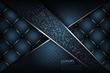 Dark blue textured layer overlap background. Elegant luxurious background Фото со стока