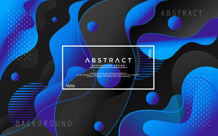 Modern liquid background with abstract shape