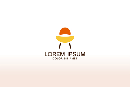 Furniture logo design interior. Modern symbol template design. Vector icon illustration 일러스트