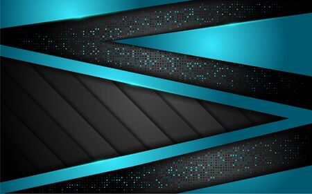Abstract 3D overlap layer background with blue lines shape. modern elegant background. eps vector