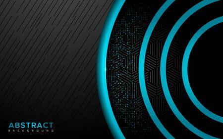 Modern blue with shine overlap layer circle shape background. abstract geometric shape background