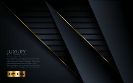 luxury dark background with golden lines combinations. Abstract modern background