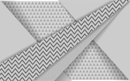 Modern abstract white background with triangle and dot shape. Overlap layer backgrounds