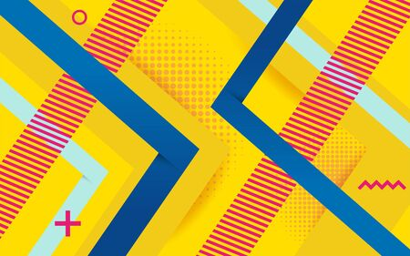 Vector abstract yellow background design. Modern dynamical colored forms and line abstract background.
