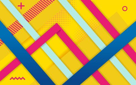 Vector abstract yellow background design. Modern dynamical colored forms and line abstract background. Zdjęcie Seryjne - 130809990