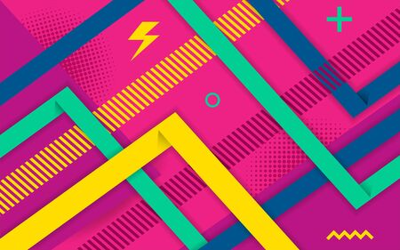 Vector abstract purple pink background design. Modern dynamical colored forms and line abstract background. Иллюстрация