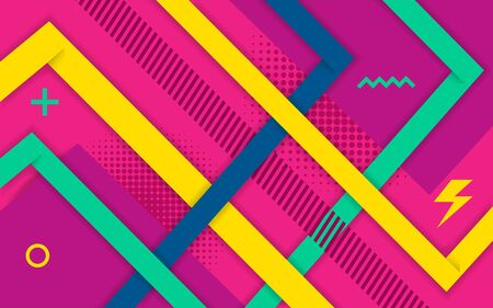 Vector abstract purple pink background design. Modern dynamical colored forms and line abstract background. Ilustracja