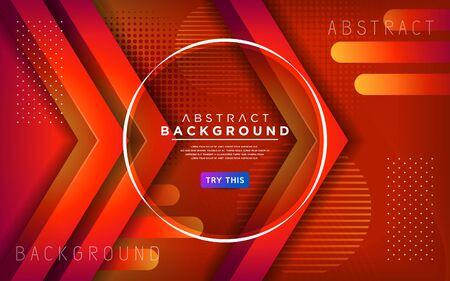 Modern orange 3d dynamic line background. Abstract modern background