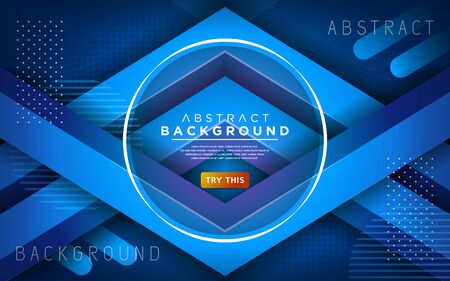 Modern blue 3d dynamic line background. Abstract modern background