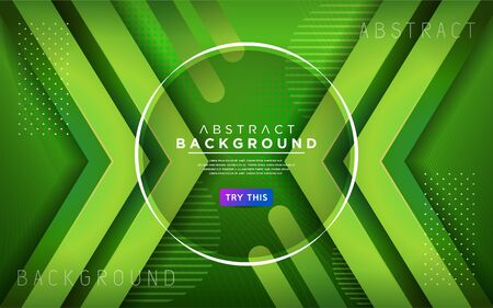 Modern green 3d dynamic line background. Modern abstract background