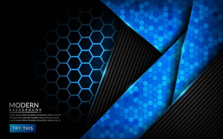 Modern abstract tech blue background. Futuristic technology background design