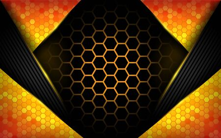 Modern abstract tech orange background. Futuristic technology background design Zdjęcie Seryjne - 130810069