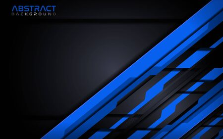 Futuristic blue modern tech abstract background design template. Vector graphic Banco de Imagens - 130810072