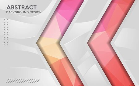 Modern dynamic grey combine with colorful geometric tech background template design.