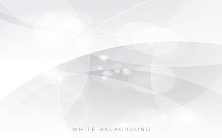 Modern white light silver background vector. Abstract background template