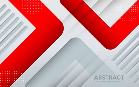 Modern red and grey geometric background with abstract style. background design template