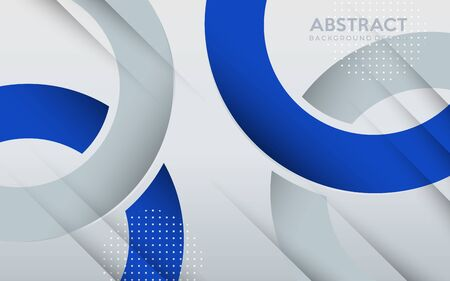 Modern blue and grey geometric background with abstract style. background design template