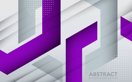 Modern purple and grey geometric background with abstract style. background design template