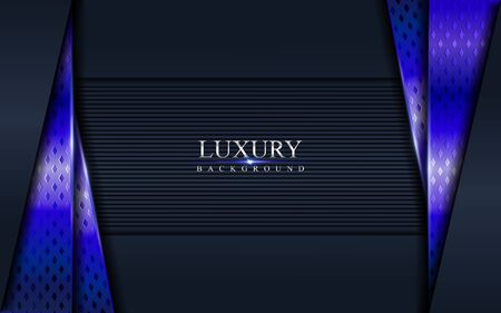 Luxury dark navy with purple blue textured overlap layer abstract background . Abstract background design
