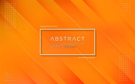 Modern gradient orange colorful background combine with abstract shape and element. Vector background design Ilustracja